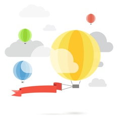 Flying color balloons vector
