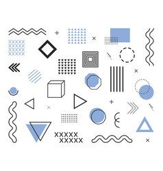 geometric elements from 80s and 90s design shapes vector image