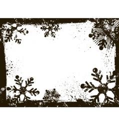 Grunge snowflakes vector