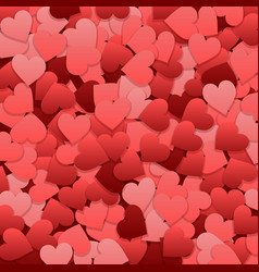 Heart confetti valentines day background vector