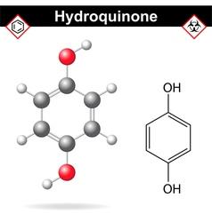 Hydroquinone molecule vector