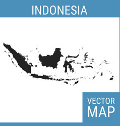 Indonesia map with title vector