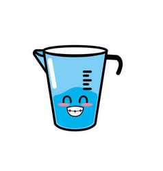 Kawaii cute happy jar measures vector