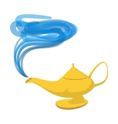 Lamp Aladdin cartoon icon vector image