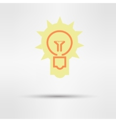 light sign ideas web icon design vector image