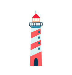 lighthouse flat cartoon vector image