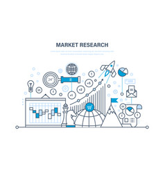 market research analysis research statistic vector image