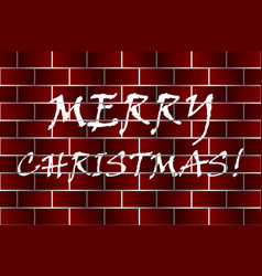 merry christmas - white and red vector image