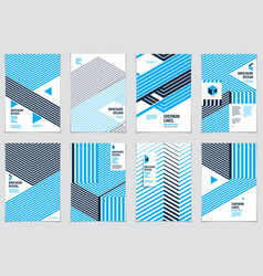 Modern minimal template brochures leaflets vector