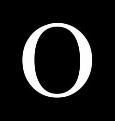 omicron greek sign vector image