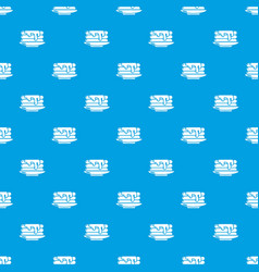 Pancakes pattern seamless blue vector
