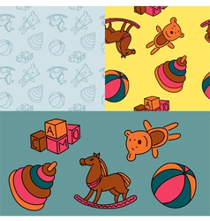 Pattern toys vector image