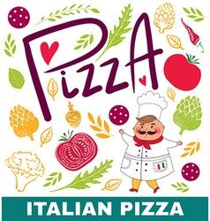 Pizza shop design vector