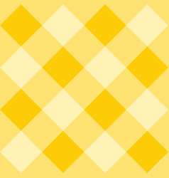 Seamless yellow plaid background - checkered tile vector
