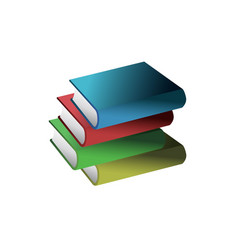 simple and attractive book icon vector image