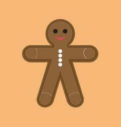 simple cartoon ginger cookies vector image