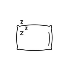 Sleep pillow icon bed cushion pillow relax vector