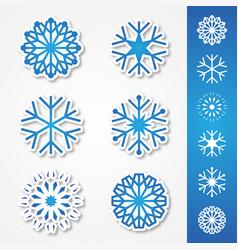 snow sticker vector image