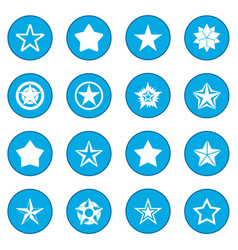 Star icon blue vector