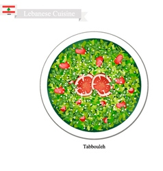 Tabbouleh or Lebanese Vegetarian Salad vector