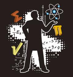 teacher math and physics vector image