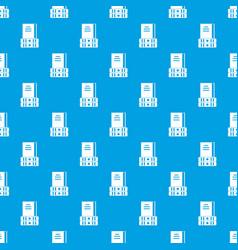 three books pattern seamless blue vector image