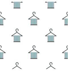 Towel on hanger pattern flat vector