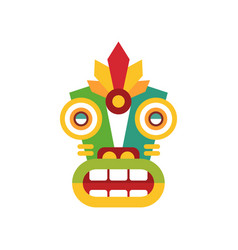 Traditional colorul ethnic facial mask vector