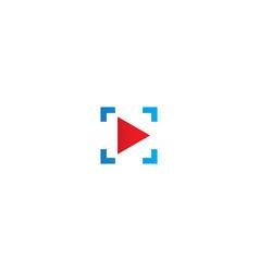 triangle play button icon logo vector image