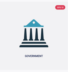 Two color government icon from united states of vector