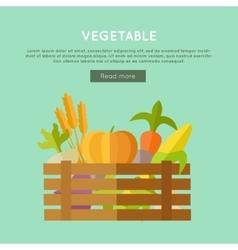 Vegetable Web Banner in Flat Design vector
