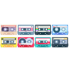 vintage tape cassette retro mixtape 1980s pop vector image