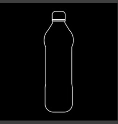 Water plastic bottle the white path icon vector