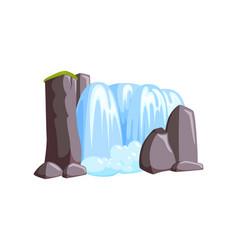 Waterfall cascade in cliffs cascade water vector