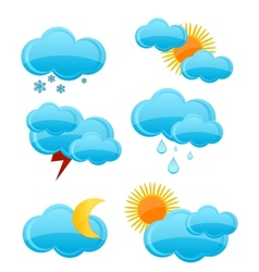 weather symbols set vector image