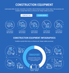 website banner and landing page construction vector image