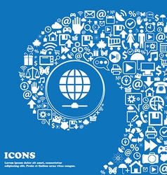 Website Icon sign Nice set of beautiful icons vector image