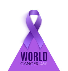 world cancer day conceptual poster background with vector image