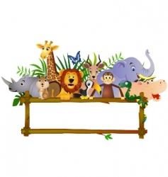 animal cartoon group vector image