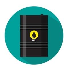 black metal oil barrel with logo icon vector image vector image