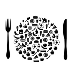 Icon plate vector