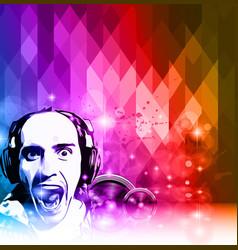 Mordern Crazy Dj club Flyer vector image