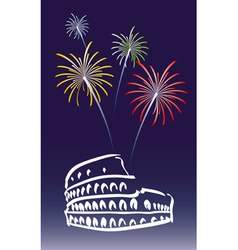 New Year in Rome vector image vector image