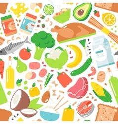 Vegetable seamless pattern garden background vector image