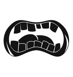 zombie mouth icon simple style vector image vector image