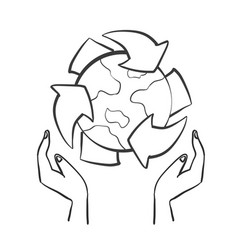 hand draw style environement doodle vector image