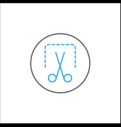 screenshot solid icon mobile sign and scissors vector image