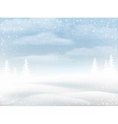 Winter snowy rural landscape vector image