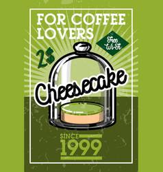 Color vintage cafe banner vector