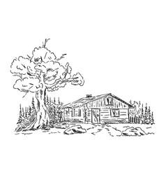 Old hut vector